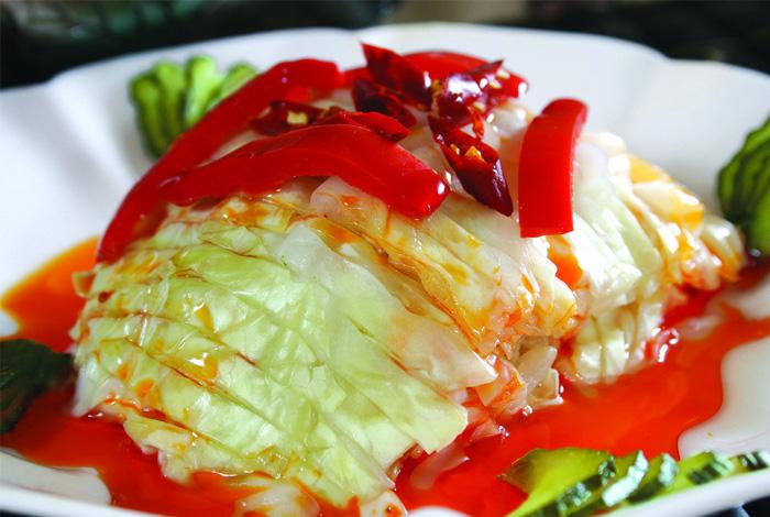 邹平孙大妈红油酸菜的做法